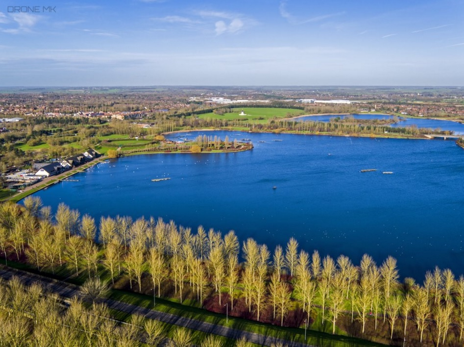 Willen-Lake-Aerial-View-Drone