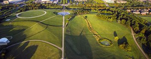 Campbell-Park-drone-view-beacon-pond-mk-rose