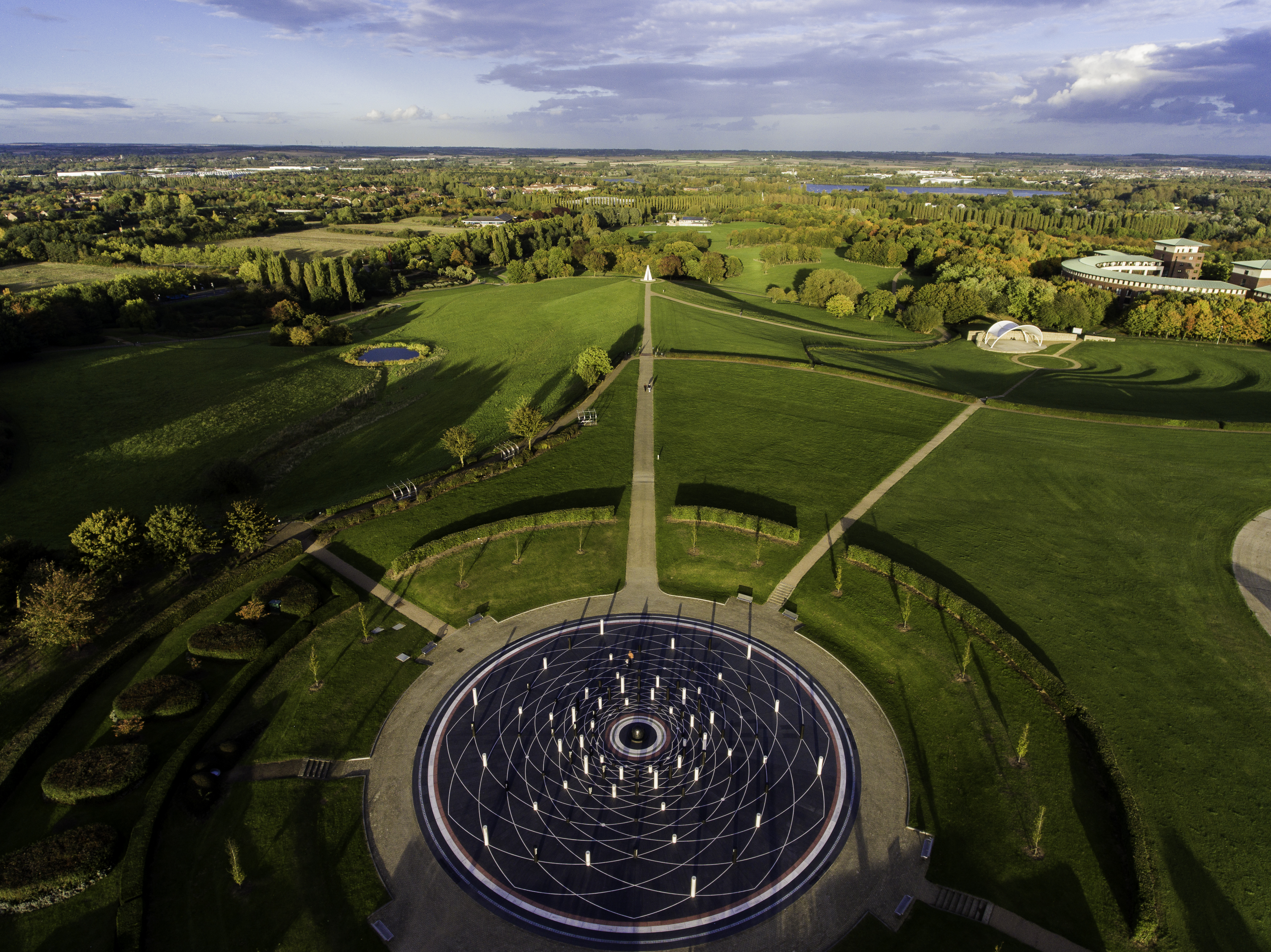 Campbell-Park-Aerial-view-sunny-landscape-mk-rose-beacon