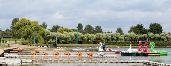 The Watersport Centre at Willen Lake, come on down and hire a boat!