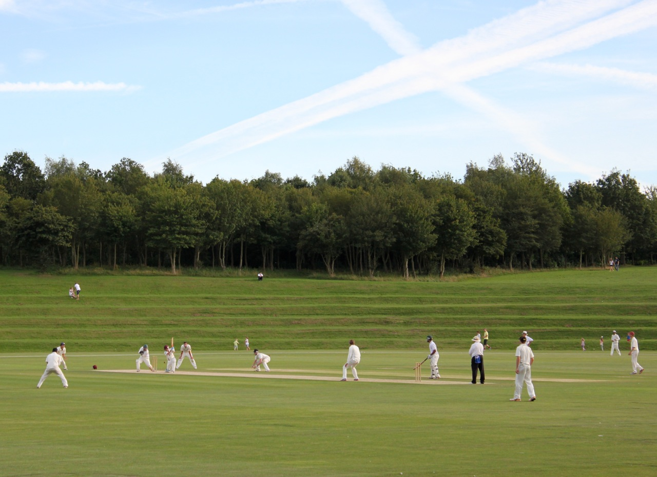 Cricket at Campbell Park Cricket Pavilion 2012