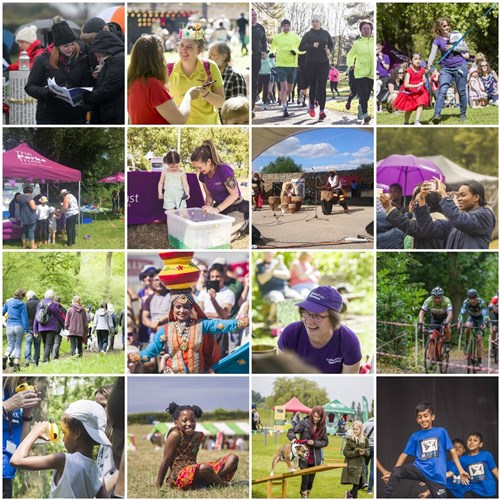 A selection of images taken at Parks Trust events